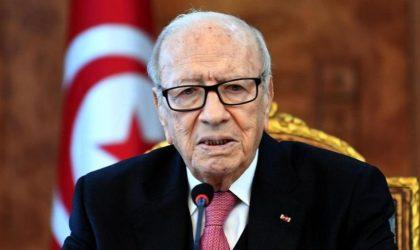 Beji Caïd Essebsi : «Ennahdha m'a menacé et cherche à m'intimider»