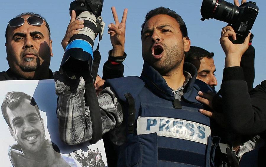 palestiniens, reporters