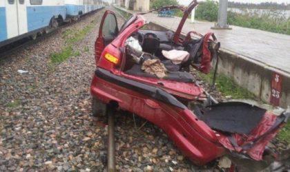 Blida: deux accidents ferroviaires font des morts et des blessés