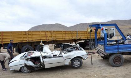 Batna : quatre membres d'une même famille décèdent dans un accident de la circulation