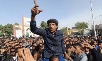 Les manifestants à Ouargla mettent en garde contre les «agitateurs intrus»