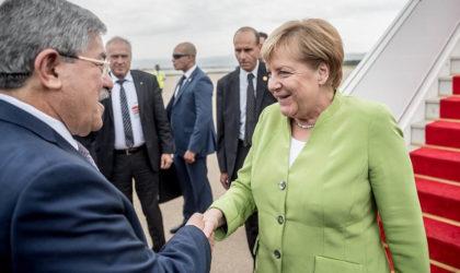 Ahmed Ouyahia s'entretient avec Merkel