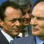 crimes, Michel Rocard et Francois Mitterrand At Memorial De La Paix