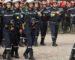 Marche des éléments de la protection civile à Béjaïa