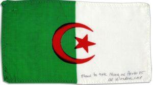 Algérie Apollo 15 drapeau espace