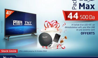 Condor lance une nouvelle promotion: profitez jusqu'au 31 octobre du Pack «El Fardja Max»