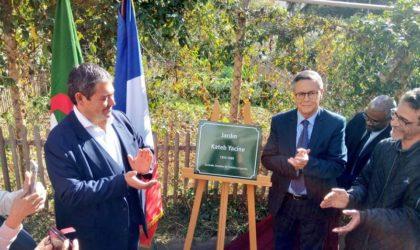 Inauguration du jardin Kateb-Yacine à Paris