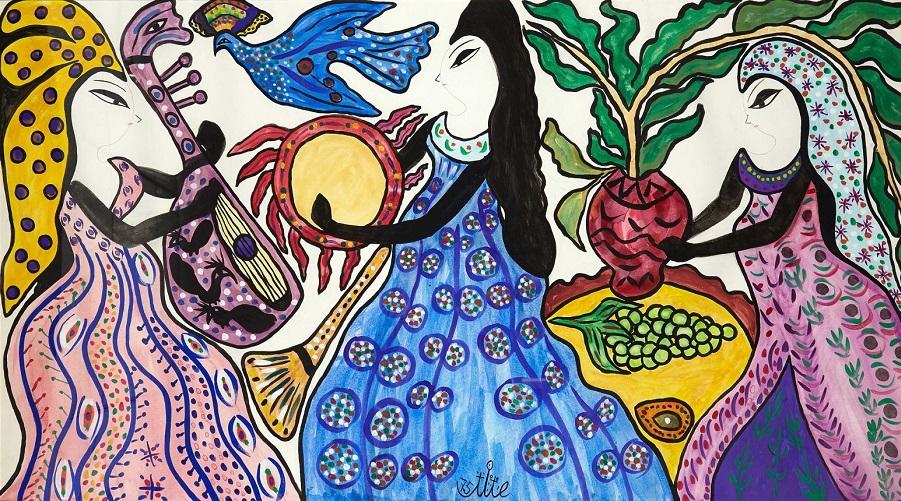 Hommage A L Artiste Peintre Baya Algerie Patriotique