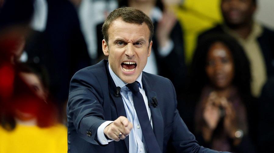 Macron destruction
