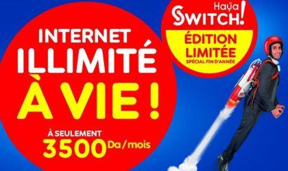 Edition limitée de «Haya ! Switch» : profitez de l'Internet illimité à vie