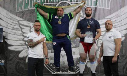 Amine Bouafia champion du monde de power lifting pour la deuxième fois