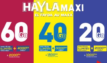 Djezzy lance la nouvelle offre prépayée «HAYLA Maxi» !