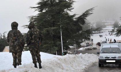 Vague de froid et neige : les forces de l'ANP assistent les populations enclavées