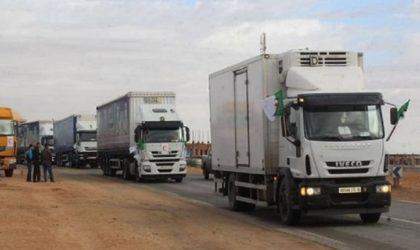 Départ de la troisième caravane commerciale algérienne vers Nouakchott