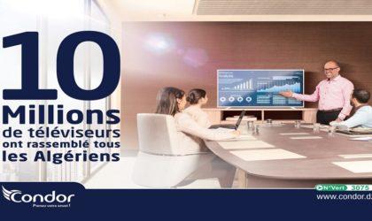 10 millions de téléviseurs Condor ont rassemblé tous les Algériens