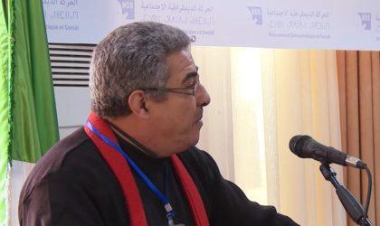 Le coordinateur du MDS Hamid Farhi n'est plus