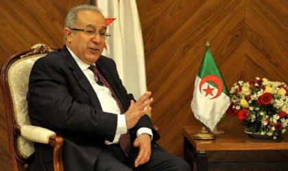 Ramtane Lamamra : «Nous refusons d'envisager le pire pour le pays»