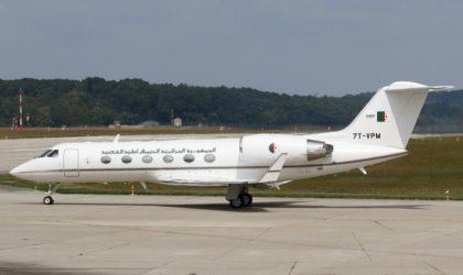 L'avion présidentiel vient d'atterrir sur le tarmac de l'aéroport de Genève