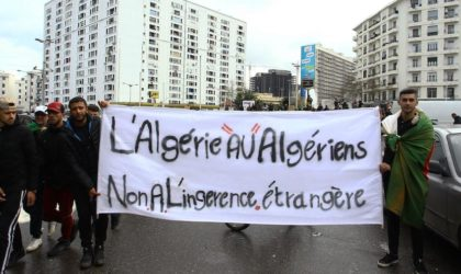 La crise actuelle en Algérie