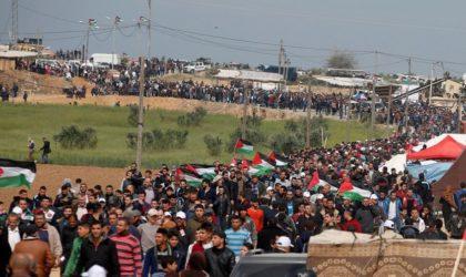 Les Palestiniens marquent un an de manifestations pour le droit au retour