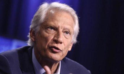 De Villepin : «Le peuple algérien a fait preuve d'une très grande maturité»