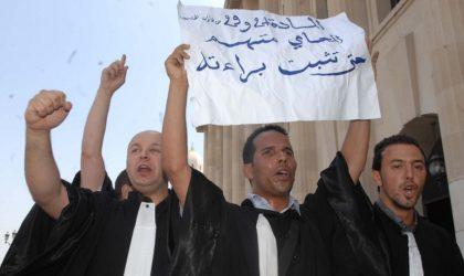 Sit-in des avocats et magistrats devant le ministère de la Justice