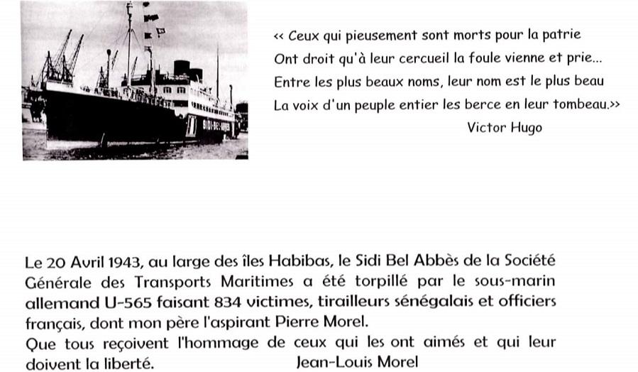 plaque Sidi Bel Abbès îles Habibas