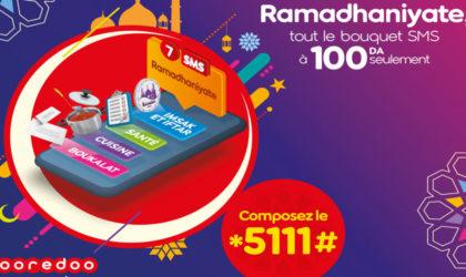 Ooredoo : durant le mois sacré, bénéficiez du service «Ramadanyate» à partir de 1 DA