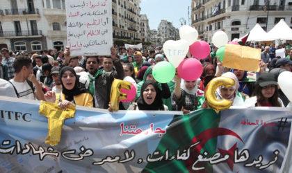 Les étudiants fortement mobilisés pour leur deuxième marche en plein ramadhan