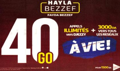 Djezzy relance Hayla Bezzef avec plus de générosité à vie !