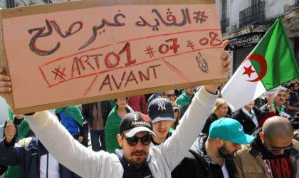 Le peuple exige l'application de l'article 7