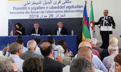 Construire une Algérie citoyenne : l'appel des Forces de l'Alternative démocratique