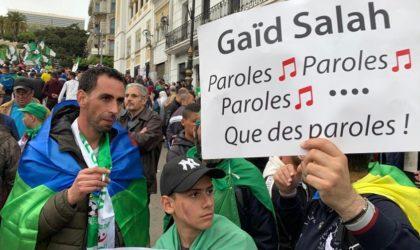 Les Forces de l'alternative démocratique dénoncent le bellicisme de Gaïd-Salah