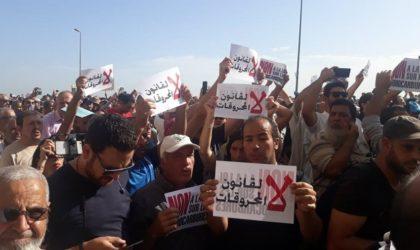Loi sur les hydrocarbures : des milliers de manifestants protestent devant l'APN