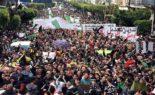 Belle démonstration des citoyens de Bouira contre la mascarade du 12