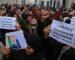 Des centaines de manifestants observent un rassemblement devant le tribunal de Sidi M'hamed