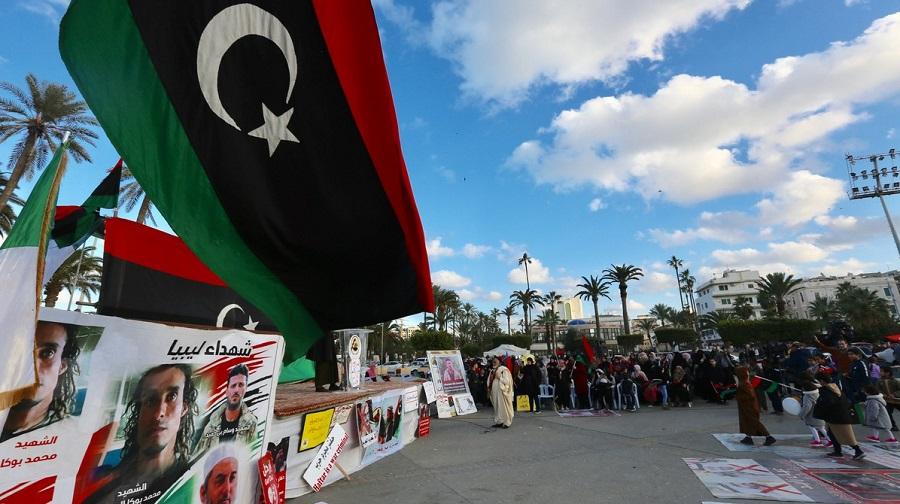 drapeau algérien Tripoli