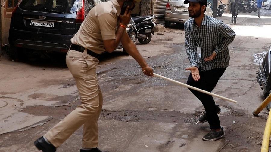 Inde politique de confinement