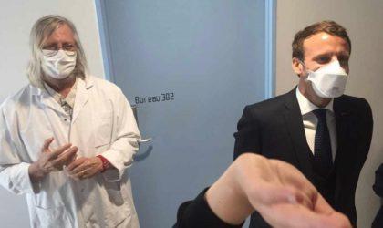 Macron subjugué par le nombre de médecins algériens qui entourent Raoult