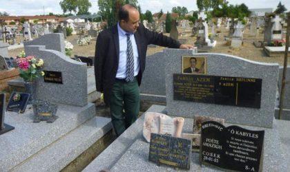 Pour le rapatriement des ossements de Slimane Azem avec la dépouille d'Idir