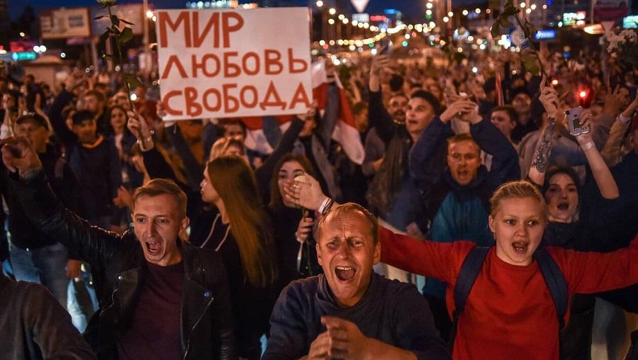 Biélorussie présidentielle protestation