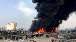 liban port incendie
