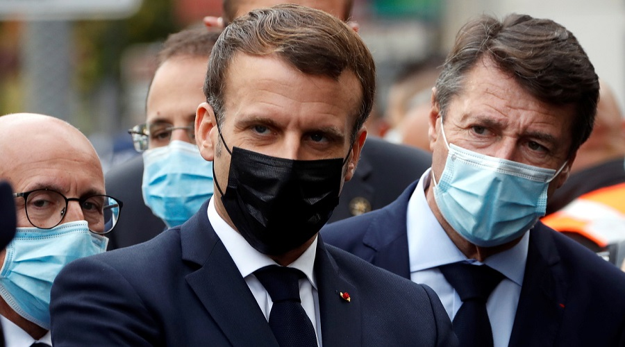 Macron caricatures