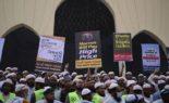 Royaume-Uni : des musulmans manifestent devant l'ambassade de France