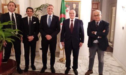 L'ambassadeur d'Algérie à Rome reçoit une délégation du Canottieri Lazio de Rome