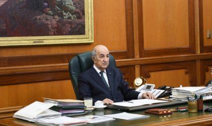 Le président Tebboune reçoit un appel téléphonique de son homologue français