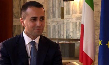 Le ministre italien des Affaires étrangères Luigi Di-Maio en visite en Algérie
