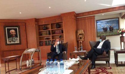 Sabri Boukadoum reçu à Pretoria par le président Ramaphosa