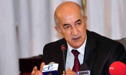 Le président Tebboune préside une réunion du Haut Conseil de sécurité