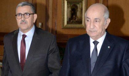 Abdelmadjid Tebboune maintient le gouvernement en l'état et remplace Attar et Aït Ali